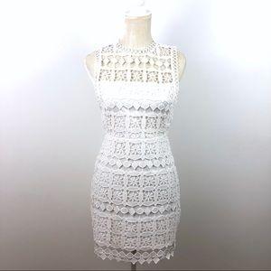 Lulus Short White Lace Dress Sleeveless